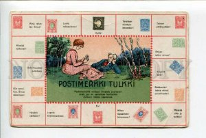 424035 FINLAND 1898 year language of stamps ADVERTISING Vintage postcard