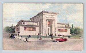 Winona MN, Savings Bank, Customers, Street View, Vintage Minnesota Postcard
