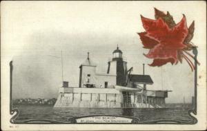 St. John New Brunswick Lighthouse c1905 Private Postcard