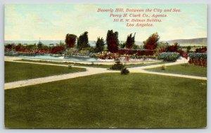 Los Angeles California~Beverly Hills Between City & Sea~Swan on Pond~c1910
