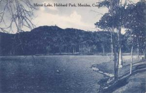 Mirror Lake in Hubbard Park - Meriden CT, Connecticut - pm 1911 - DB