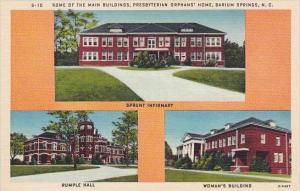 North Carolina Barium Springs Some Of The Main Buildings Presbyerian Orphams ...