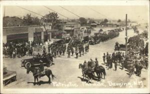 Deming NM Patriotic Parade Stores Visible Signs c1918 Real Photo Postcard