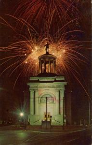 OH - Hamilton. The Monument, Memorial Building, Fireworks