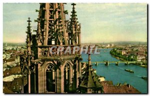 Old Postcard Basel Drei Rheinbrücken St Georgsturn am Munster Bole The three...