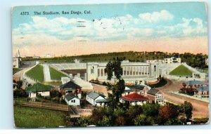 San Diego CA The Stadium Early 1920s Vintage Postcard A53