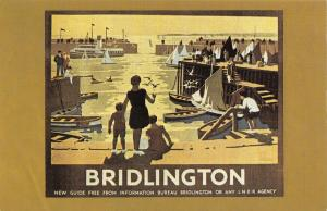 Nostalgia Postcard LNER Railway Poster c1930 Bridlington Reproduction Card NS2