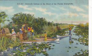 Seminole Indians In The Heart Of The Florida Everglades Curteich