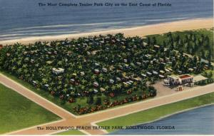 Hollywood, Florida/FL Postcard, Aerial View Of Hollywood Beach Trailer Park