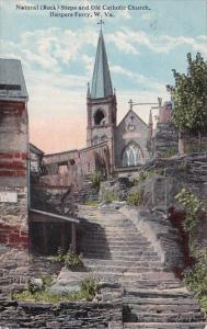 Natural Steps And Old Catholic Church Harpers Ferry West Virginia