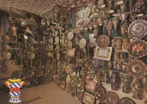 Morocco Pottery Hand Made Plates Moroccan Postcard