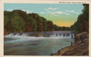North Dakota Grand Forks The Red River Dam Curteich