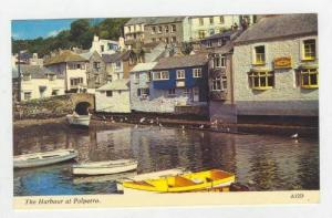 Waterside View, Harbour, Row Boats, Polperro, England, 40-60s