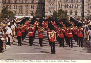 Regimental Band And Guard Parliament Hill Ottawa ON Ontario Vintage Postcard D20