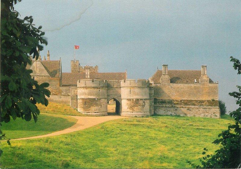 England Rockingham Castle The Norman Entrance Towers Postcard
