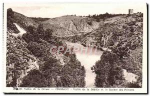 Old Postcard Crozant Vallee Sedelle of the Rock and spinners