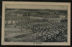Mint Usa Real Picture Postcard RPPC Troops In Review  Training Camp