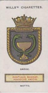 Wills Vintage Cigarette Card Ships Badges No. 29 Venomus 1925