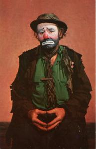 Famous People - Emmett Kelly as Weary Willie, Clown