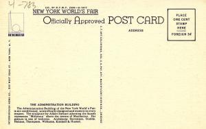 NY - New York World's Fair, 1939. Administration Building