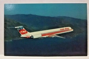 TWA Trans World Airlines McDonnell Douglas Super 80 Airplane PW JT8D-217A engine