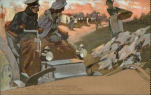 Hohenstein Couple in Car Expo Milano Italy 1901 Gardini Pubblici Postcard