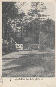 BELLOWS FALLS , Vermont, 1908 ; Minard's Pond Gate