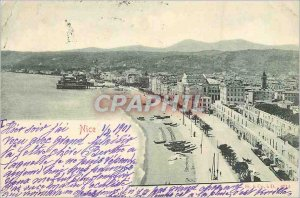 Postcard Old Nice (map 1900)