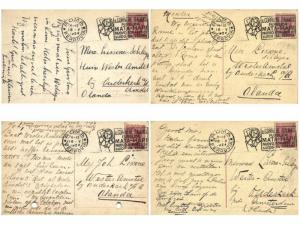 MATA HARI Cancel ROMA ITALY 4 Postcards Covers 18 May 1924 to Netherlands