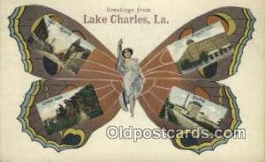 Greetings from Lake Charles, LA, USA Old Vintage Antique Postcard Post Card  ...