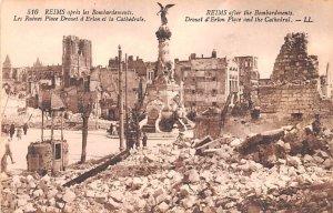 Les Ruines Place Drouet d Erlon et la Cathedral Reims France Unused