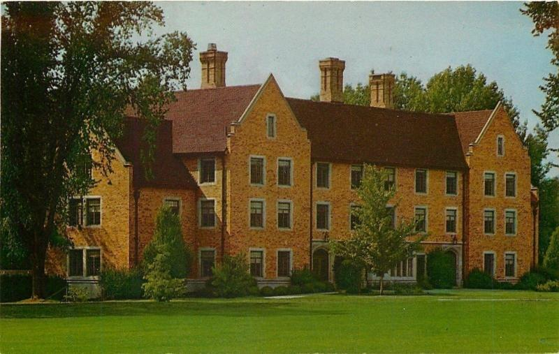 Wooster Ohio~Andrews Hall~College of Wooster~1962 Postcard