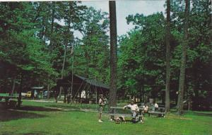 Picnic shelter and playground area near botto of the falls,  Amicalola Falls ...
