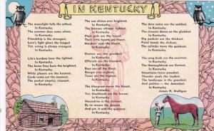 Kentucky Poem By James H Mulligan In Kentucky