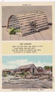 Massachusetts Marblehead Lobsterman's Shanties and Lobster Pot  Curteich