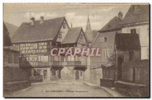 Postcard Old House Kaysersberg Renaissance