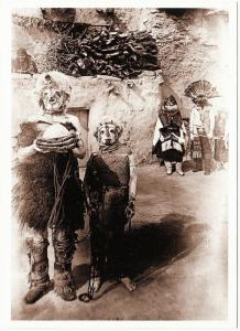 Hopi Kachina Mask Powamu Ceremony Native American Modern Postcard