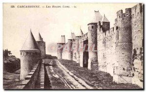 Old Postcard Carcassonne The high Strings