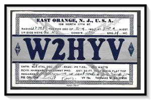 New Jersey, East Orange QSL Ham Radio - (MX-015)