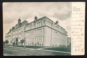 High School Newark NJ 1905 Souvenir Post Card Co 3353