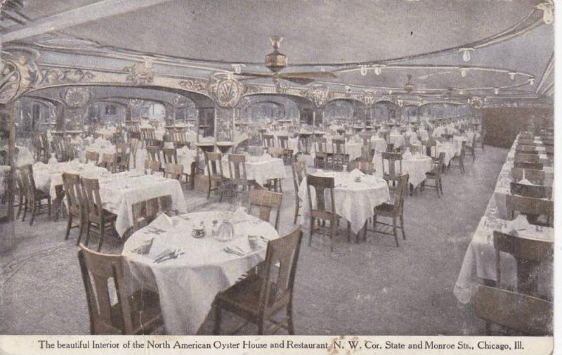 Interior Of North American Oyster House & Restaurant N. W. Cor. State & Monro...