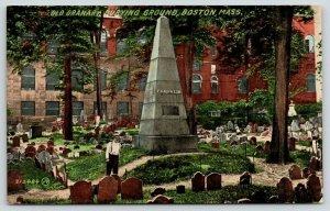 Boston MA~Old Feller in Granary Burial Ground~Ben Franklin Family Obelisk~c1910