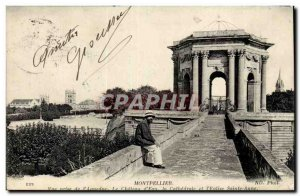 Montpellier Old Postcard View from the & # 39aqueduc the chateau d & # 39eau ...