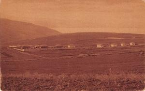 Israel Old Vintage Antique Post Card Mountain view of Sea of Galilee Golden G...