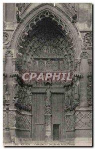 Old Postcard Amiens Porch De Saint Firmin