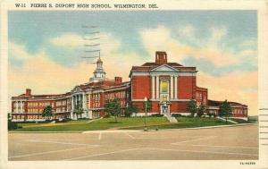 Boyer Pierre S. Dupont High School 1948 Wilmington Delaware Postcard Teich 5666