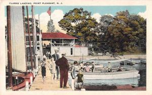 Point Pleasant New Jersey Clarks Landing Boats  Vintage Postcard JA4741257