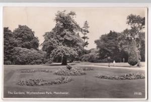 Manchester; The Gardens, Wythenshawe Park RP PPC, 1951 PMK, Faults
