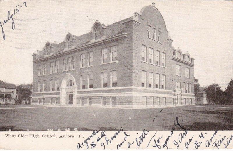 Illinois Aurora West Side High School 1907 sk1419