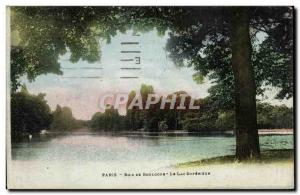 Paris Old Postcard Bois de Boulogne The upper lake